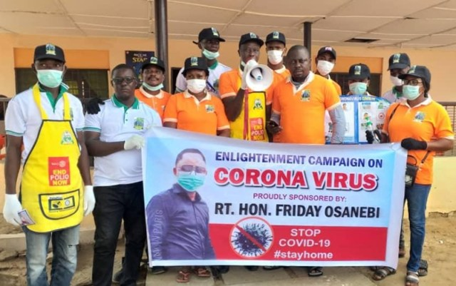 Covid-19: Rt. Hon. Friday Osanebi's Team at the Flag-Off of the Sensitization and Distribution of Protective Materials in Ndokwa Land