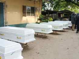 Caskets Bearing the Corpses of the Herdsmen Attack in Uwheru Kingdom