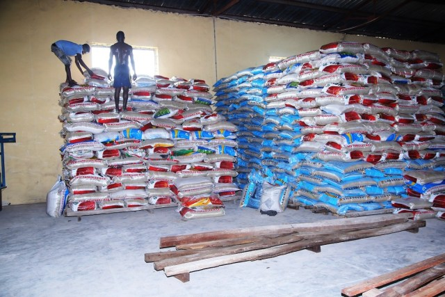 Stocking of Delta COVID-19 Food Bank at  Agricultural Development Authority (ADP), Ibusa