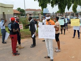 Coalition of Chairmen and Members of several Civil Societies in Delta at the Assembly Gate