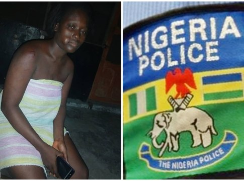 Pics Inset: Mrs Victory Rufus, Lady Assaulted by Police in Warri