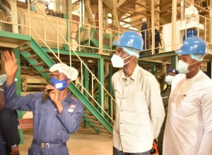 Dr Cairo Ojougboh led Inspection of NDDC Rice Mill at Elele-Alimini in Rivers State
