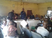 Daniel Yingi Speaking at a meeting of PDP members at Burutu Ward Four