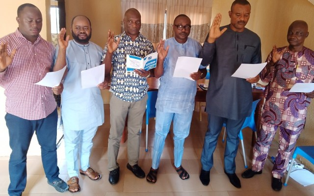 Newly Inaugurated Executives of Delta Online Publishers' Forum