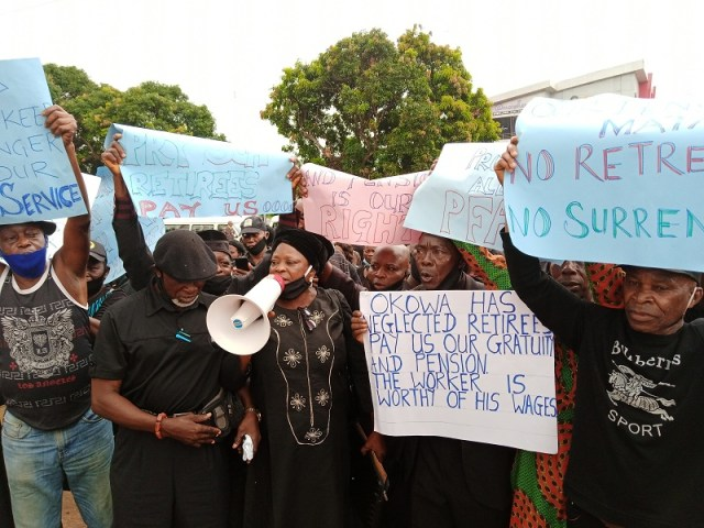 Delta Local Government Retirees Protest N48.3bn Unpaid Gratuity and Pension State Government