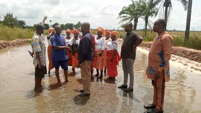 Ferguson Onwo Inspects Flood Destruction