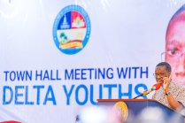 EndSARS: Governor Senator Ifeanyi Okowa Meets Delta Youths at a Town Hall Meeting in Government House, Asaba