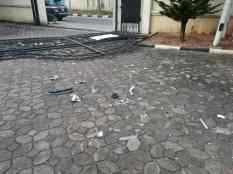Destruction Allegedly Carried Out by Perez Omoun
