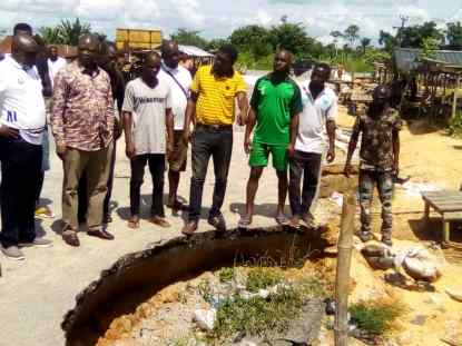 Failed Sections of Umeh Road