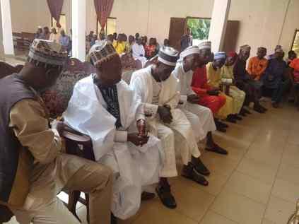 Issele Uku Muslim Community Visit Issele-Uku Monarch at Eid-el-Fitr