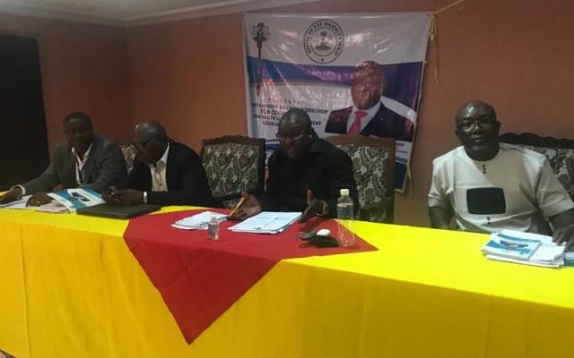 Hon Festus Okoh Speaking at the Training of Ika South Councillors at Abraka