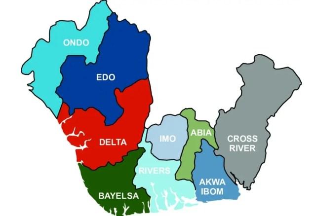 Illustration Map of Niger Delta Region