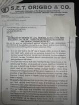 Police Petition Against Sunday Okoro