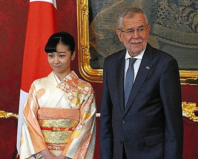 佳子さま、着物姿で表敬 オーストリア大統領を訪問:朝日新聞デジタル