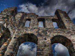 Castle Wall - Rain on Dragon Scales