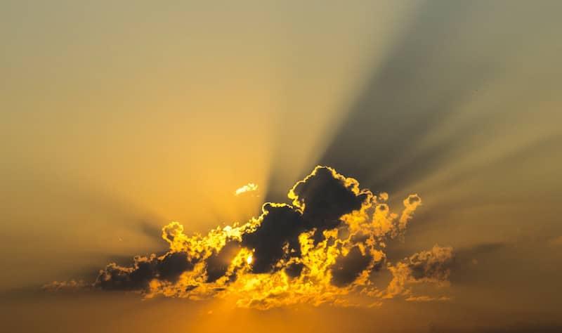 Gratitude for sunshine