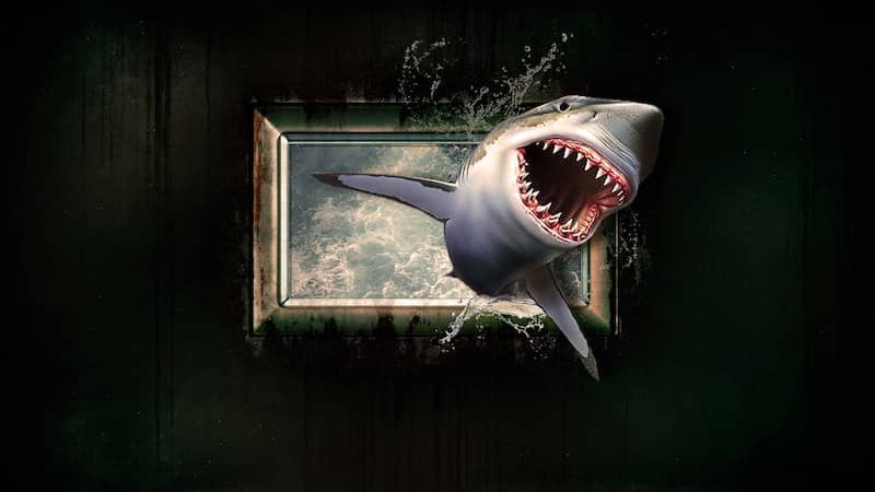 Shark coming in a window: Sharknado