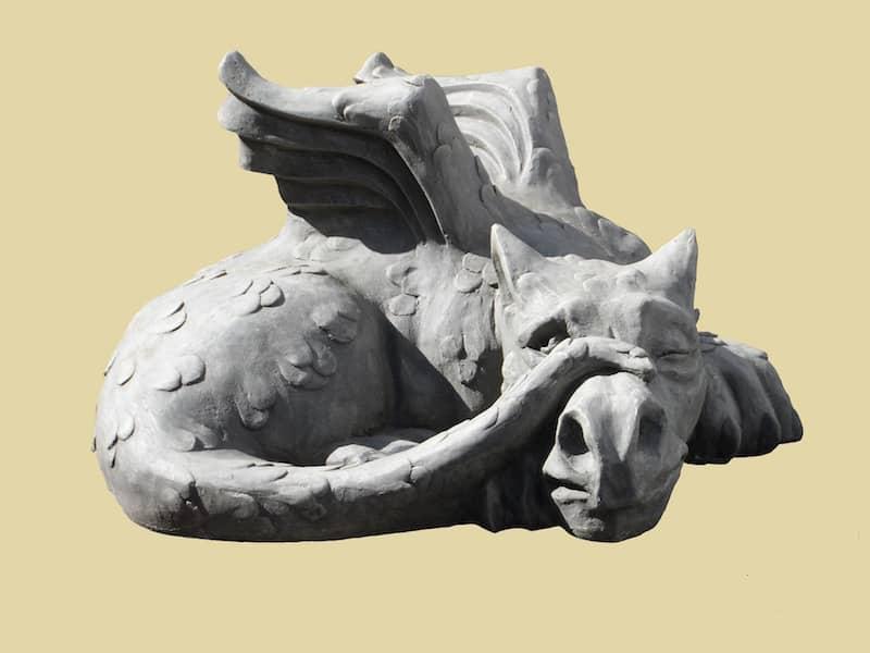 Fantasy dragon sculpture