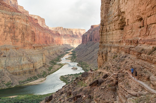 Eroded river valley