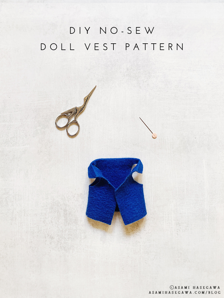 DIY No-Sew Doll Vest