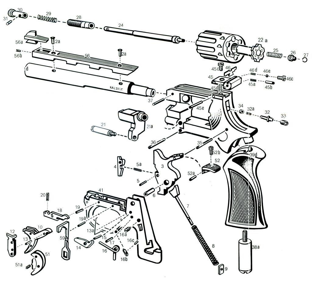 Schematic 22 Revolver Single Action