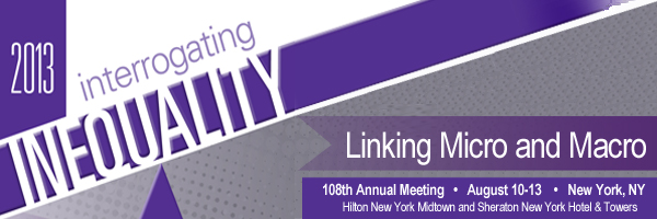Interrogating Inequality 108th ASA Annual Meeting