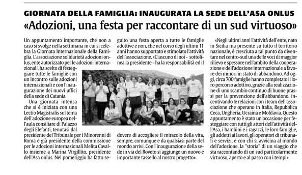 La Sicilia - domenica 20 maggio 2012