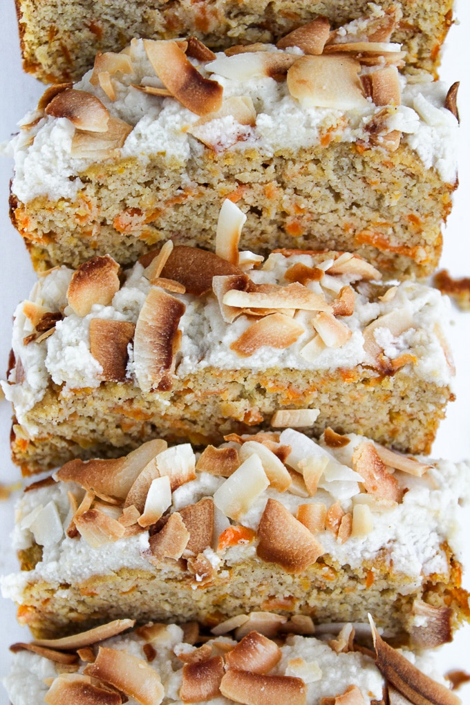 Nut Free Paleo Carrot Cake | A healthier, gluten free and dairy free alternative to carrot cake!