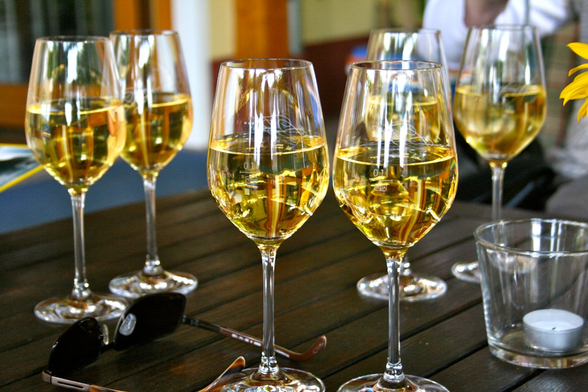 Glasses of Riesling