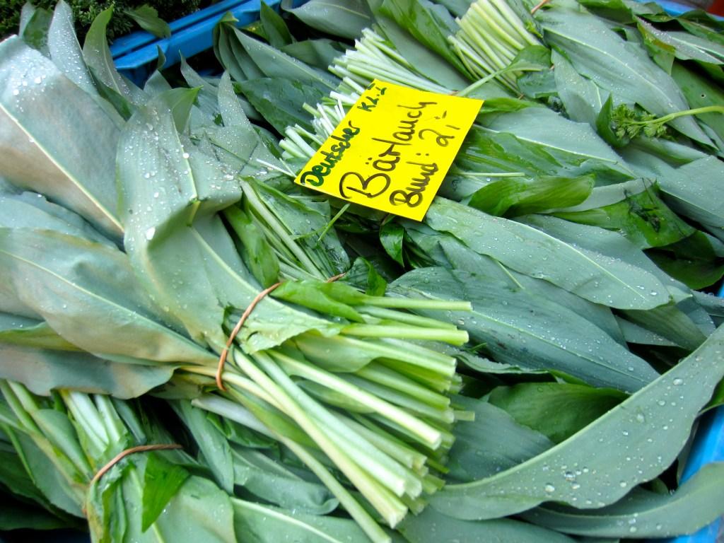 Wild garlic at the market