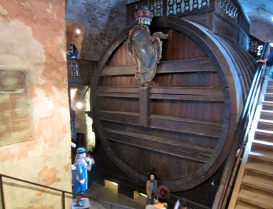 The world's largest wine barrel, at Heidelberg Castle