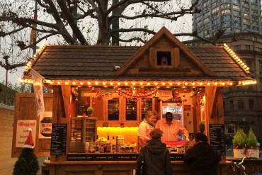 Christmas market stall in Germany