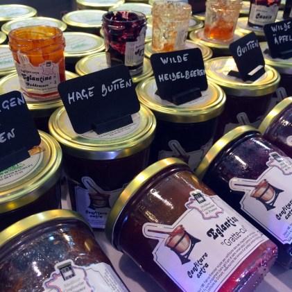 Jars of French fruit preserves