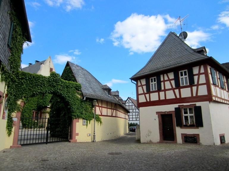 Old buildings in Eltville, Germany