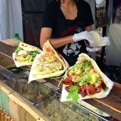 Three arepas at the Mainz Street Food Festival