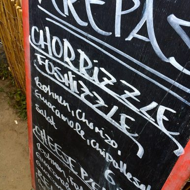 Chalkboard at the Mainz Street Food Festival