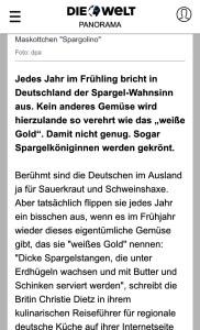 Screengrab of Christie Dietz in Die Welt