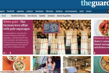 Screen grab of The Guardian Online Lifestyle section