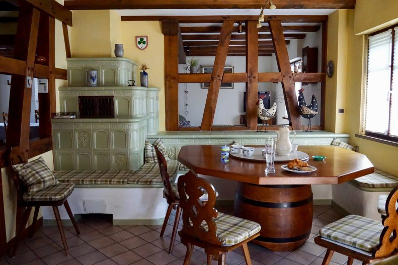 A very old kitchen in a gite in Cleebourg Alsace