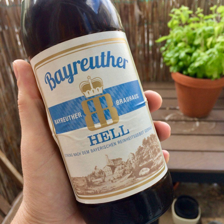 A bottle of Bayreuther Hellbier