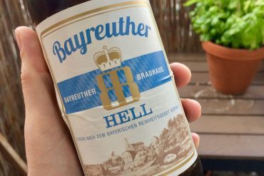 A bottle of Bayreuther Hellbier