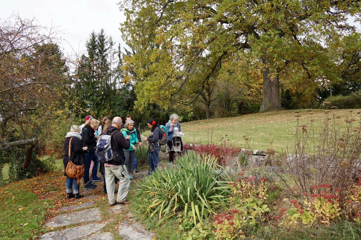 A group of bloggers in a park in Sindelfingen