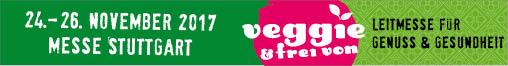 Banner for the Veggie & Frei Von Trade Fair 2017 in Stuttgart