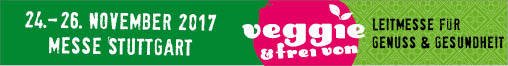 Banner for the Veggie & Frei Von Trade Fair 2017 in Stuttgart