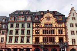 Colourful buildings at the Marktplatz, Mainz