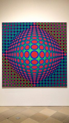 A Victor Vasarely painting hanging in Frankfurt's Staedel museum