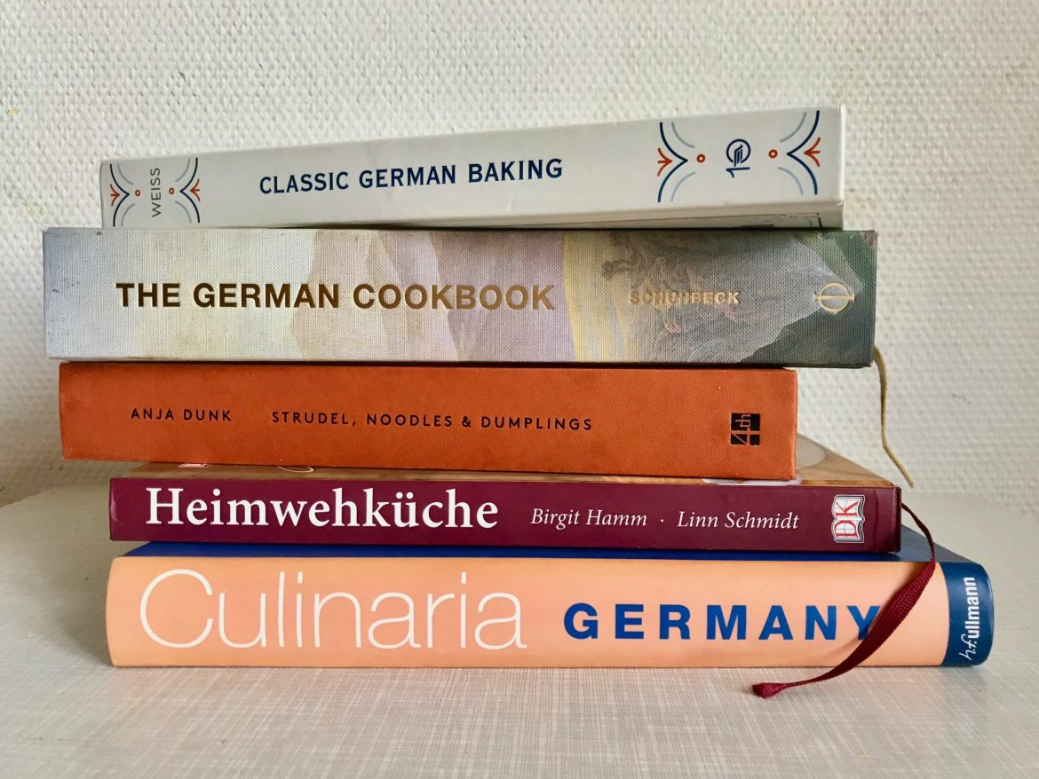 A pile of five German cookbooks