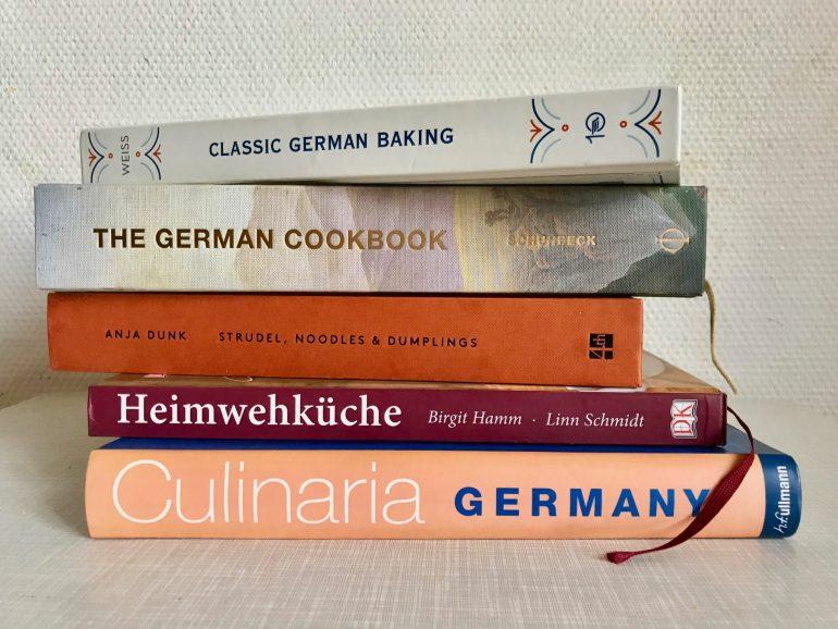 A pile of five German cookbooks