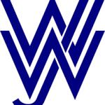 Wiesbadener Jugendwerkstatt logo, blue writing on white