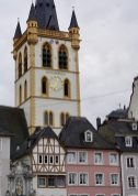 Hauptmarkt Trier buildings and church tower